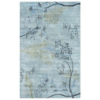 Rizzy Home Blue Home Craft Collection Hand-Tufted 100-percent Wool Accent Rug (3' x 5') - 3' x 5'