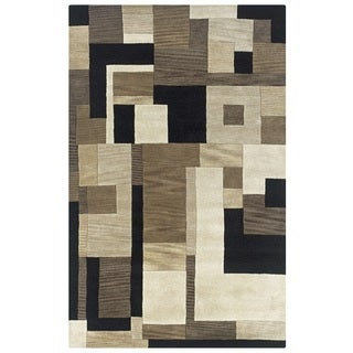 Rizzy Home Black Home Craft Hand-Tufted 100-percent Wool Accent Rug (3' x 5')