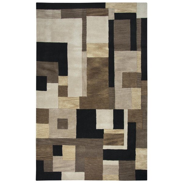 Shop Rizzy Home Black Home Craft Hand-Tufted 100-percent