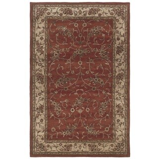 Rizzy Home Rust Home Craft Collection Hand-Tufted 100-percent Wool Accent Rug (3' x 5')