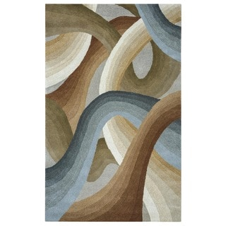 Rizzy Home Beige Colours Collection Hand-Tufted New Zealand Wool Accent Rug (8' x 10') - 8' x 10'