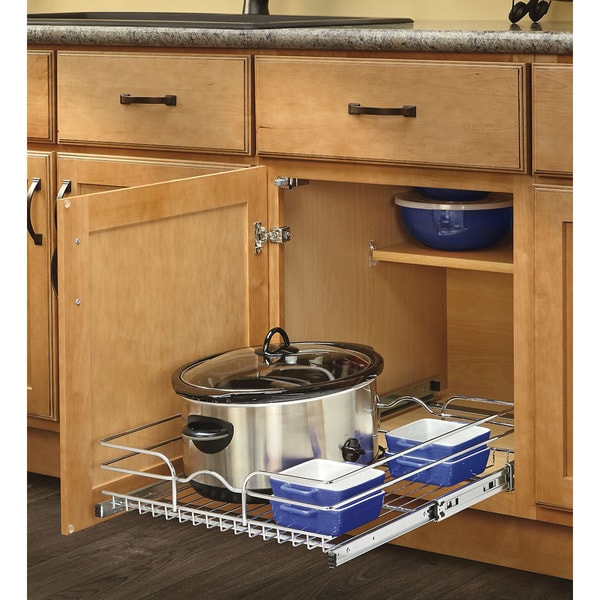 Shop Rev-A-Shelf 22-inch Deep Single Wire Basket