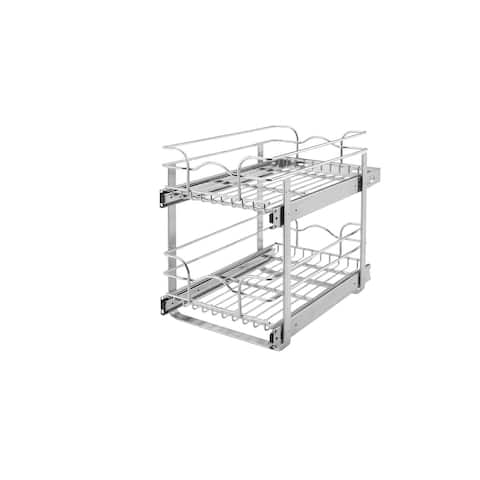 Rev-A-Shelf 18-inch Deep 2-tiered Wire Baskets