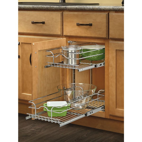 Rev A Shelf 18 Inch Deep 2 Tiered Wire Baskets Free Shipping Today 17324733