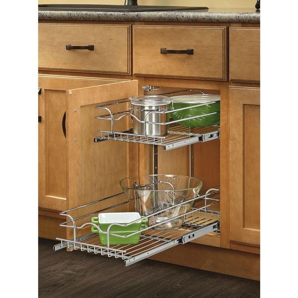 Shop Rev-A-Shelf 18-inch Deep 2-tiered Wire Baskets - Free ...