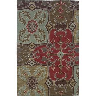 Rizzy Home Beige Country Collection Hand-Tufted New Zealand Wool Accent Rug (3' x 5')