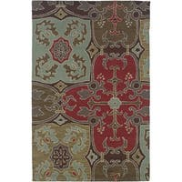 Rizzy Home Beige Country Collection Hand-Tufted New Zealand Wool Accent Rug - 3' x 5'