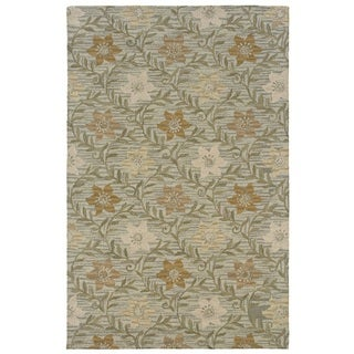 Rizzy Home Green Country Collection Hand-Tufted New Zealand Wool Accent Rug (3' x 5')