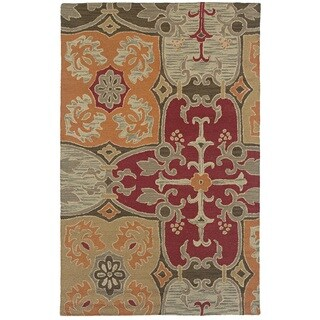 Rizzy Home Multi Country Collection Hand-Tufted New Zealand Wool Accent Rug (3' x 5')