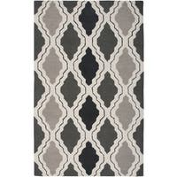 Rizzy Home Country Collection Grey Hand-Tufted New Zealand Wool Accent Rug - 8' x 10'