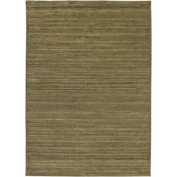 Rizzy Home Green/ Gold/ Brown Galleria Collection Power-Loomed Traditional Accent Rug - 9'2 x 12'6