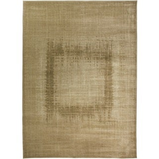 Rizzy Home Beige Galleria Collection Power-Loomed Traditional Accent Rug (9'2 x 12'6)