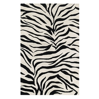 Rizzy Home Black Home Craft Collection Hand-Tufted 100-percent Wool Accent Rug (3' x 5')