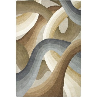 Rizzy Home Beige Colours Collection Hand-Tufted New Zealand Wool Accent Rug (3' x 5')