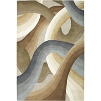 Rizzy Home Beige Colours Collection Hand-Tufted New Zealand Wool Accent Rug - 5' x 8'