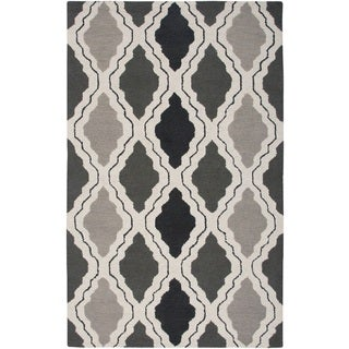 Rizzy Home Grey Country Collection Hand-Tufted New Zealand Wool Accent Rug (3' x 5')