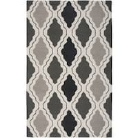 Rizzy Home Grey Country Collection Hand-Tufted New Zealand Wool Accent Rug - 3' x 5'