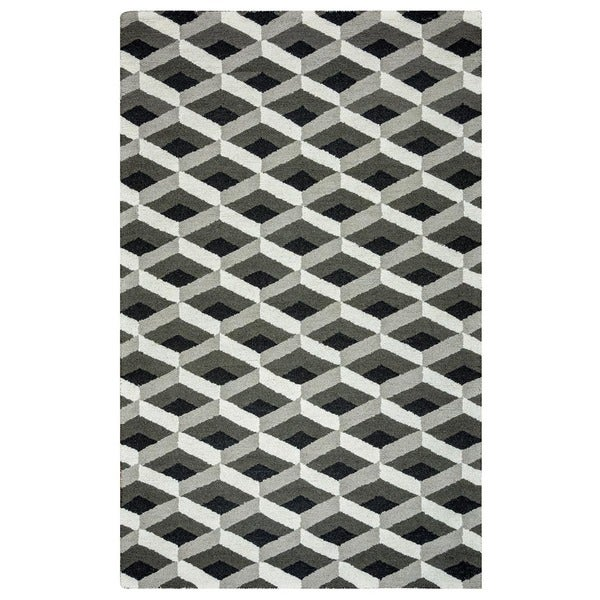Rizzy Home Country Collection Hand-tufted New Zealand Wool Blend Accent Rug (3' x 5') - 3' x 5'