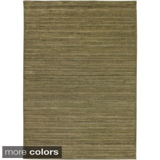 Rizzy Home Green/ Gold/ Brown Galleria Collection Power-Loomed Traditional Accent Rug (6'7 x 9'6)