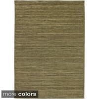 Rizzy Home Green/ Gold/ Brown Galleria Collection Power-Loomed Traditional Accent Rug (6'7 x 9'6) - 6'7 x 9'6