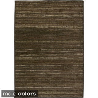Rizzy Home Green/ Gold/ Brown Galleria Collection Power-Loomed Traditional Accent Rug (7'10 x 10'10)
