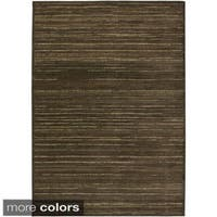 Rizzy Home Green/ Gold/ Brown Galleria Collection Power-Loomed Traditional Accent Rug - 7'10 x 10'10