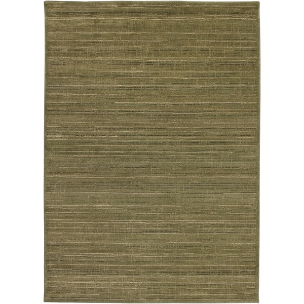 Rizzy Home Green/ Brown Galleria Collection Power-Loomed Traditional Accent Rug (5'3 x 7'7)