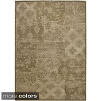 Rizzy Home Gold/ Brown Galleria Collection Power-Loomed Traditional Accent Rug (5'3 x 7'7) - 5'3 x 7'7