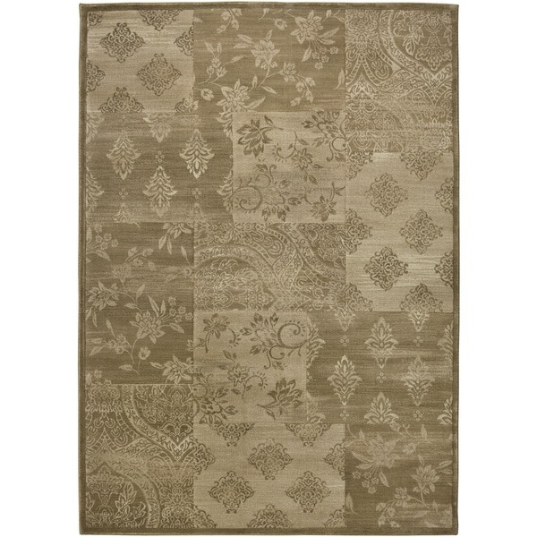 Rizzy Home Gold/ Brown Galleria Collection Power-Loomed Traditional Accent Rug - 9'2 x 12'6