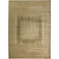 Rizzy Home Beige Galleria Collection Power-Loomed Traditional Accent Rug - 6'7 x 9'6