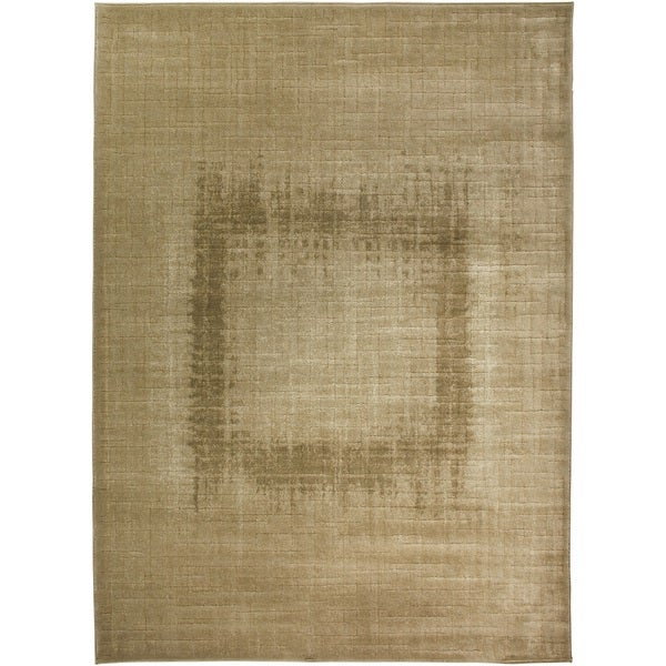 Rizzy Home Beige Galleria Collection Power-Loomed Traditional Accent Rug (6'7 x 9'6)