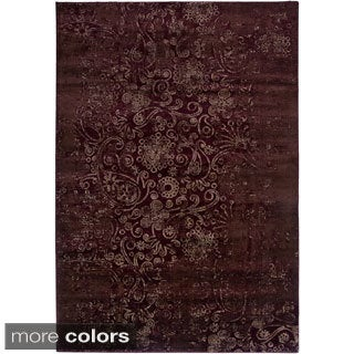 Rizzy Home Ivory/ Red Galleria Collection Power-Loomed Traditional Accent Rug (4' x 5'7)