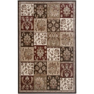 Rizzy Home Brown Galleria Collection Power-Loomed Traditional Accent Rug (6'7 x 9'6)