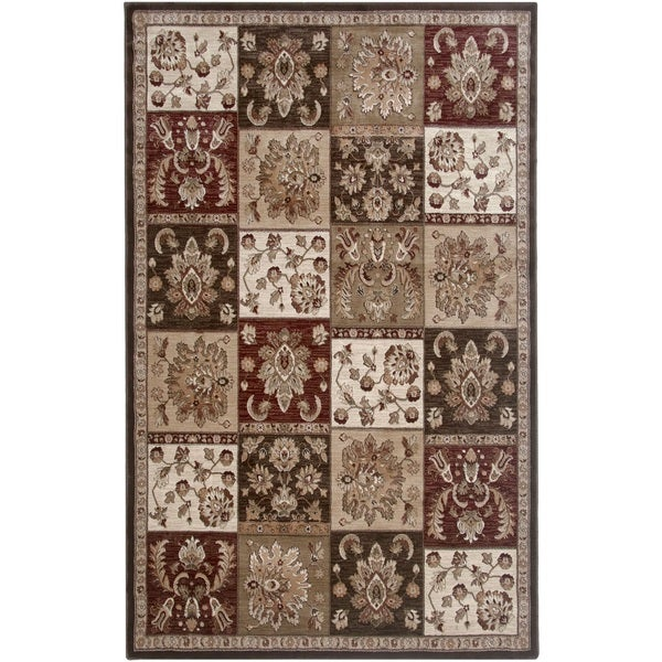 Rizzy Home Brown Galleria Collection Power-Loomed Traditional Accent Rug (9' x 2' x 12'6)