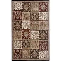 Rizzy Home Brown Galleria Collection Power-Loomed Traditional Accent Rug (5'3 x 7'7) - 5'3 x 7'7