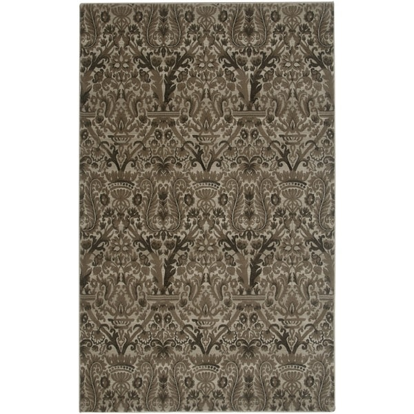 Rizzy Home Ivory/ Brown Galleria Collection Power-Loomed Traditional Accent Rug (9'2 x 12'6)