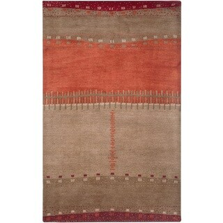 Rizzy Home Beige Mojave Collection Hand-Tufted Wool Rug - 3'6 x 5'6
