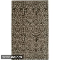 Rizzy Home Ivory/ Brown Galleria Collection Power-Loomed Traditional Accent Rug - 6'7 x 9'6