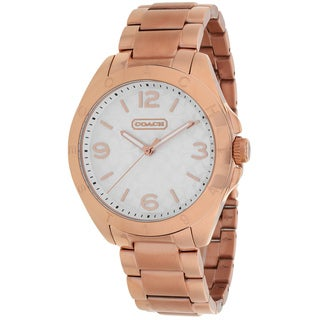 Coach Women's 14501786 Tristen Round Rose Gold-tone Bracelet Watch