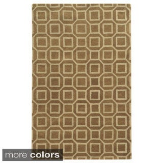 Rizzy Home Black/ Beige/ Brown Julian Pointe Collection 100-percent Wool Hand-Hand-Tufted Accent Rug (5' x 8')
