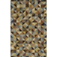 Rizzy Home Multi Pierre Collection 100-percent Wool Hand-Tufted Accent Rug (8' x 10') - Multi-color - 8' x 10'
