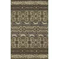 Rizzy Home Grey Collection 100-percent Wool Hand-Tufted Accent Rug (9' x 12')