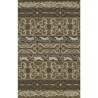 Rizzy Home Grey Collection 100-percent Wool Hand-Tufted Accent Rug (9' x 12') - 9' x 12'