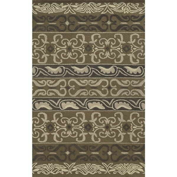 Shop Rizzy Home Grey Collection 100-percent Wool Hand