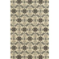 Rizzy Home Ivory Collection 100-percent Wool Hand-Tufted Accent Rug (9' x 12')