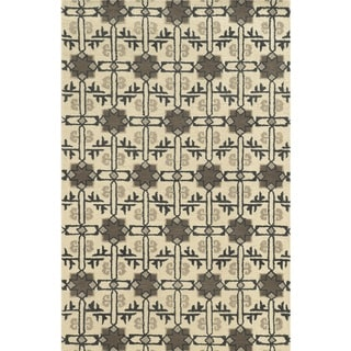 Rizzy Home Ivory Collection 100-percent Wool Hand-Tufted Accent Rug (9' x 12') - 9' x 12'