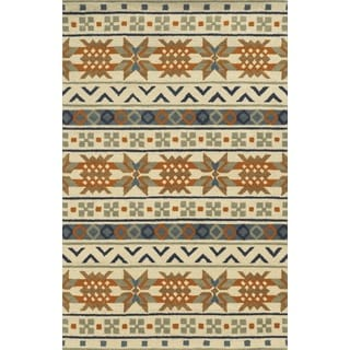 Rizzy Home Ivory Rockport Collection 100-percent Wool Hand-Tufted Accent Rug (9' x 12')