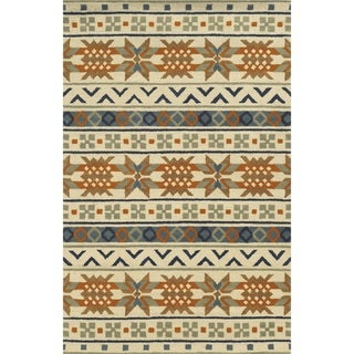 Rizzy Home Ivory Rockport Collection 100-percent Wool Hand-Tufted Accent Rug (9' x 12') - 9' x 12'