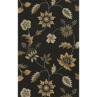 Rizzy Home Brown Rockport Collection 100-percent Wool Hand-Tufted Accent Rug (9' x 12') - 9' x 12'