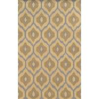 Rizzy Home Ivory/ Grey Rockport Collection 100-percent Wool Hand-Tufted Accent Rug (5' x 8') - 5' x 8'